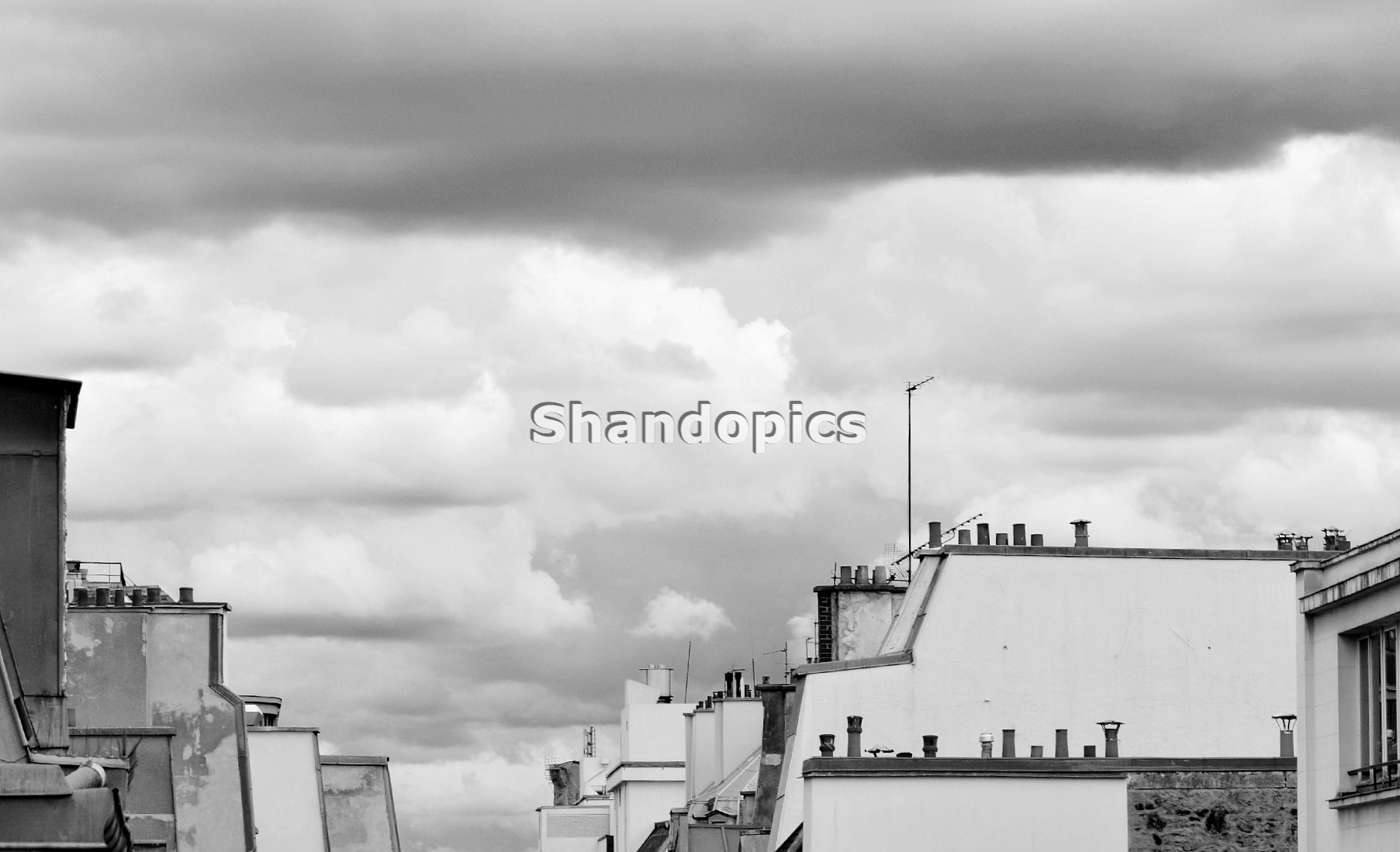 B&W Roofs and Sky in Paris 2015