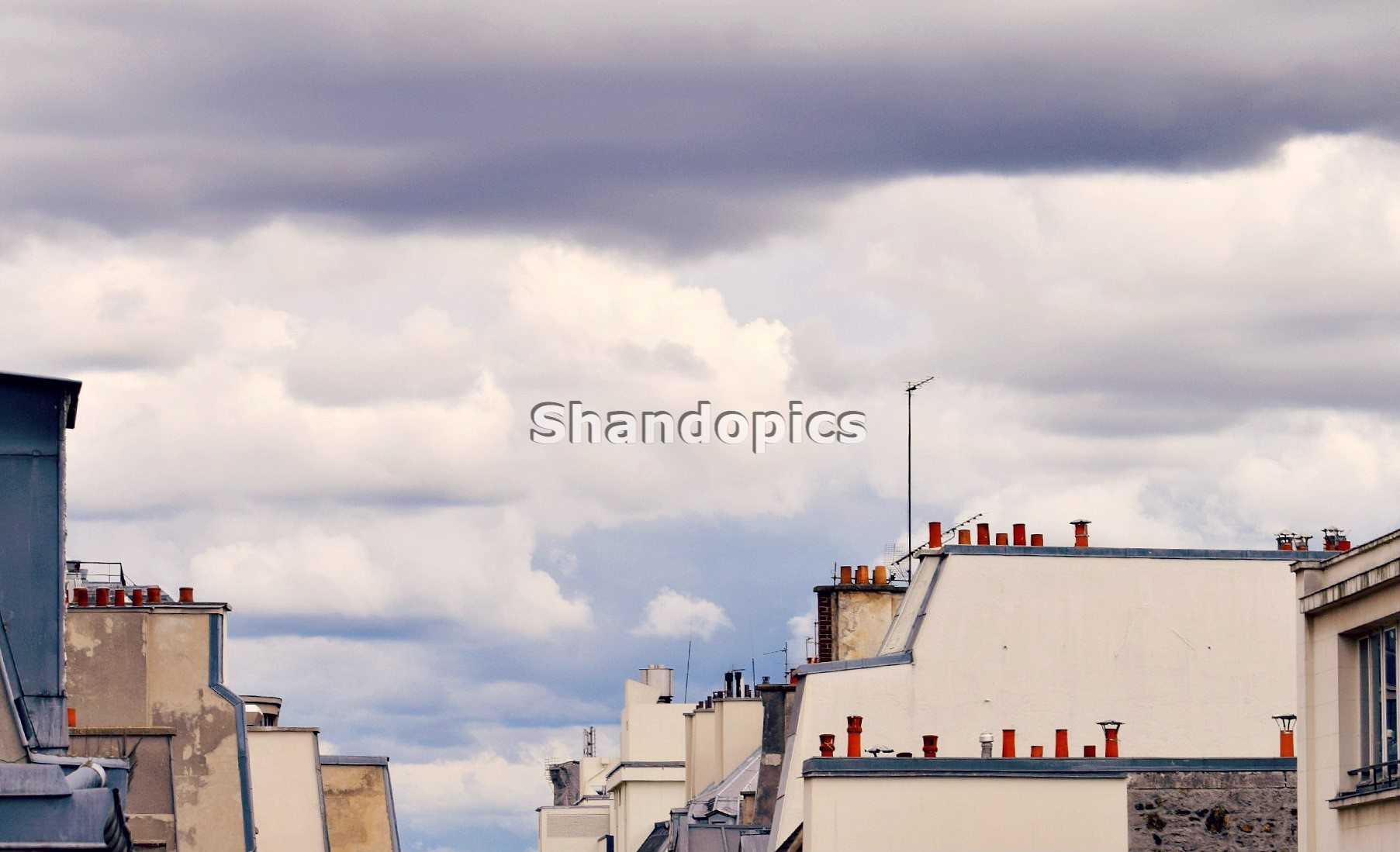 Roofs and Sky in Paris 2015